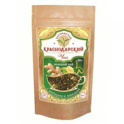 Чай Зеленый с имбирем и лимоном 80г Дой Пак № 26