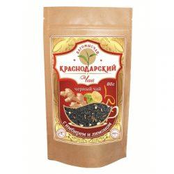 Чай Черный с имбирем и лимоном 80г Дой Пак № 23