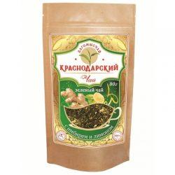 Чай Зеленый  с имбирем и лимоном 80гр.ДойПак №26
