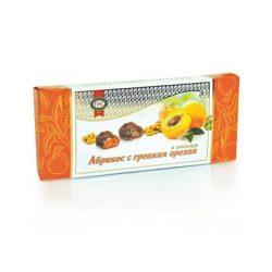 Конфеты «Абрикос с грецким орехом в шоколаде» 1/130 (1 шт)